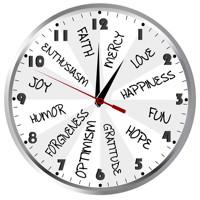 small gratitude clock